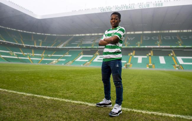24/12/18.CELTIC PARK - GLASGOW.Celtic's Karamoko Dembele signs his first full-time professional contract with the club..
