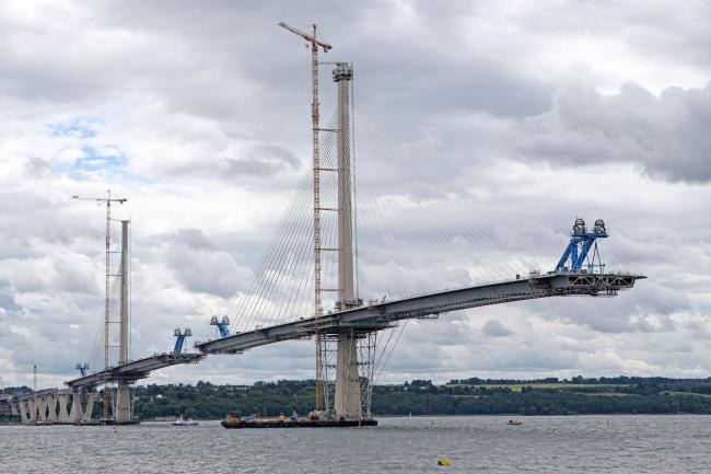 The Queensferry Crossing under construction.