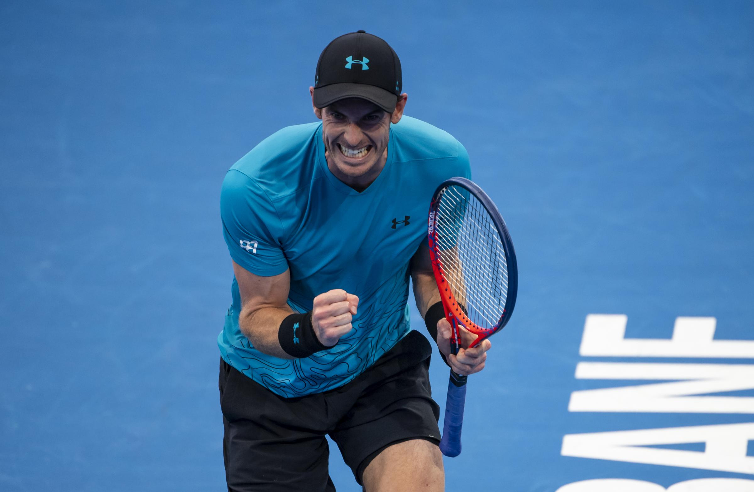 Andy Murray showed that fighting spirit in the first round in Brisbane, but he was to bow out after his next match