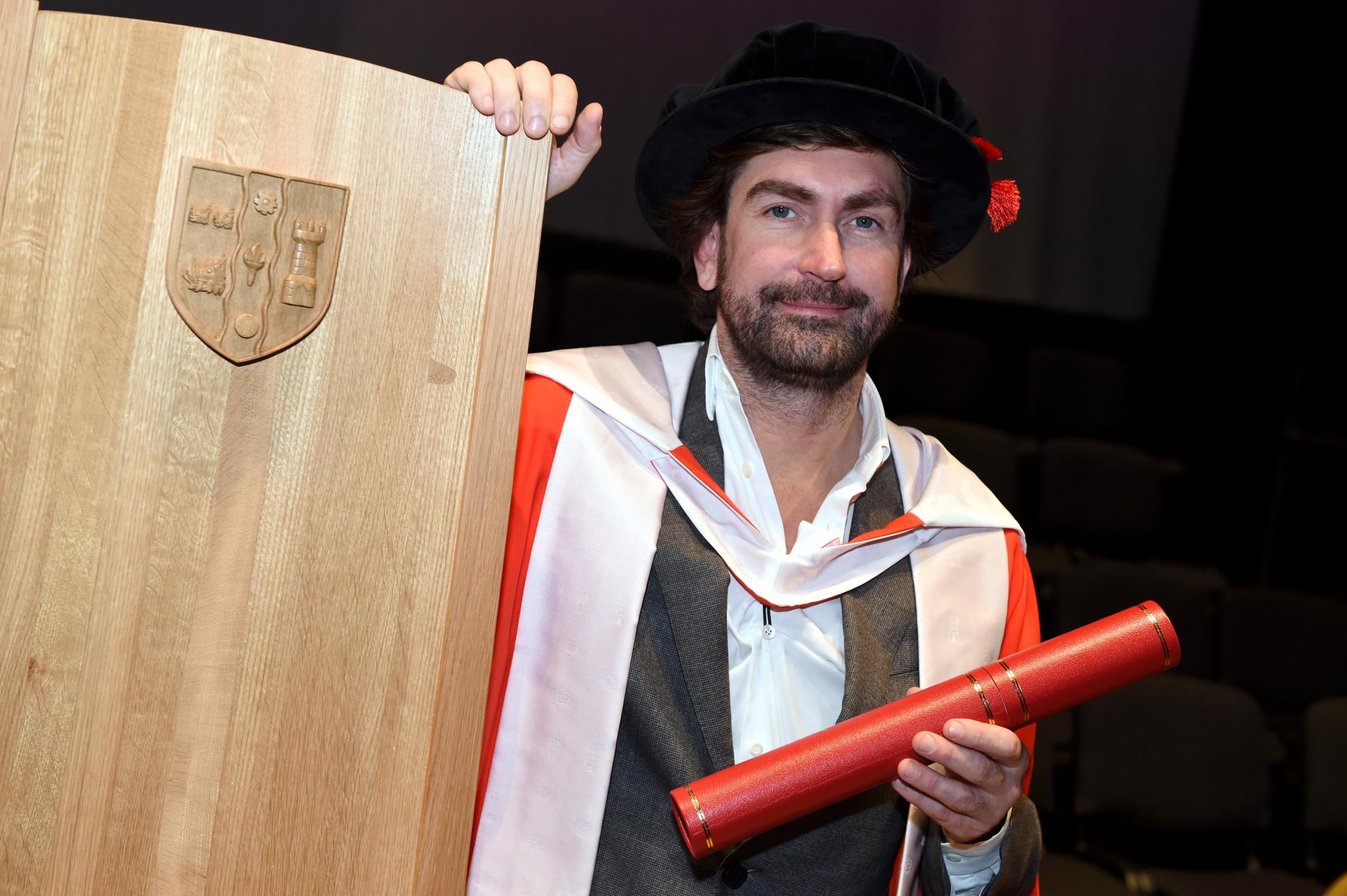 FILE PICTURE - Leslie Benzies received an honorary degree from Robert Gordon's University in July 2015. See SWNS story SWSCgame; A video game pioneer who worked on the landmark Grand Theft Auto series has been taken to court accused of poaching former
