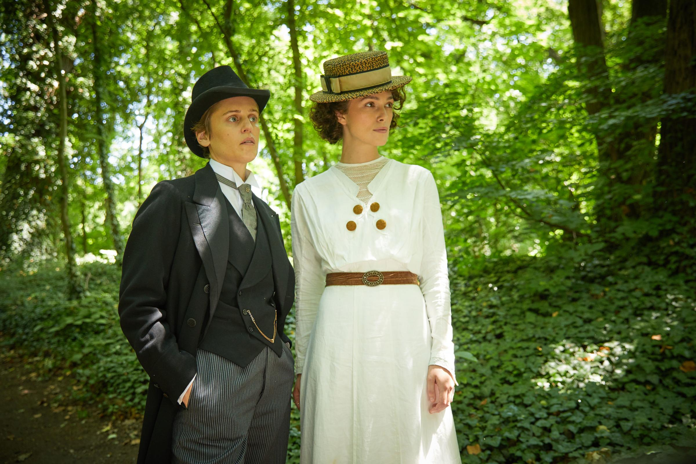 Denise Gough as Mathilde de Morny aka Missy and Keira Knightley as Sidonie-Gabrielle Colette. PA Photo/Lionsgate Films