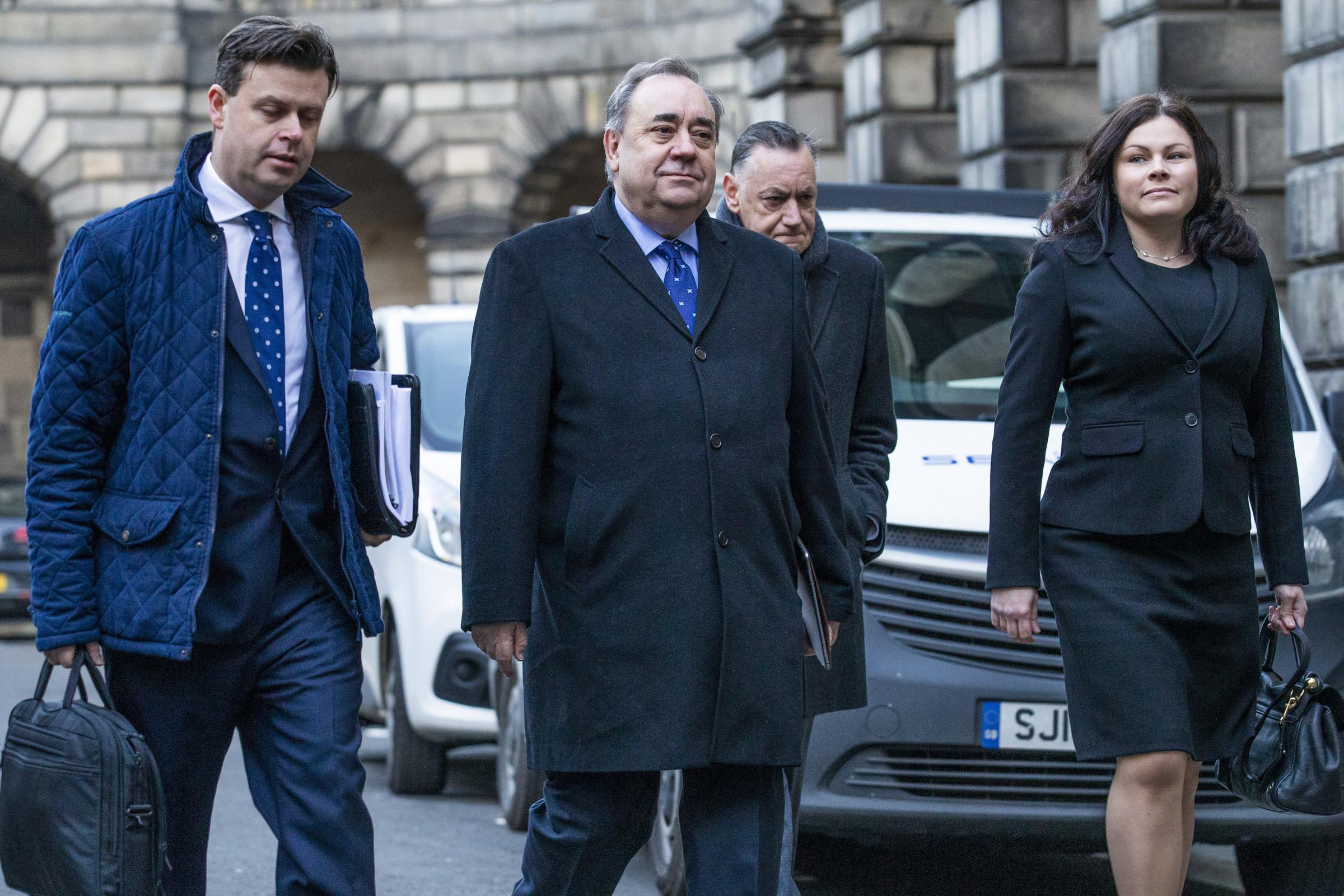 Alex Salmond arriving at the Court of Session in Edinburgh