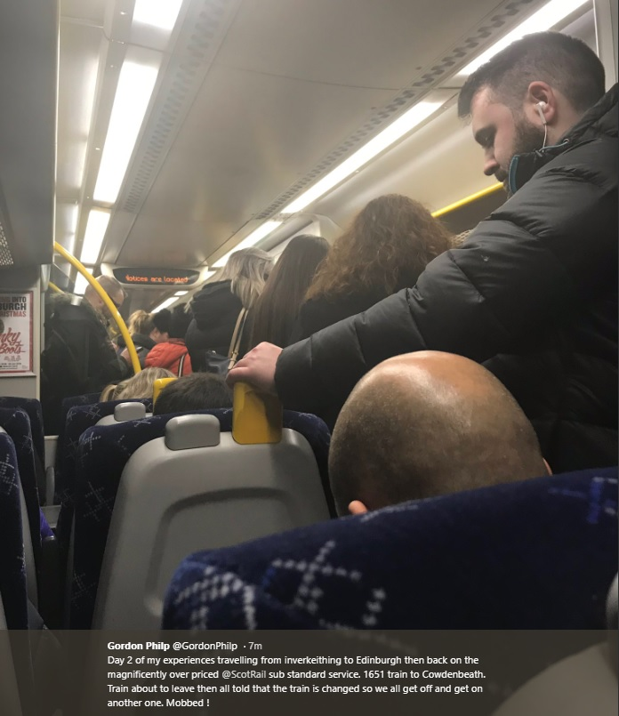 One complaint over recent disruption over ScotRail services
