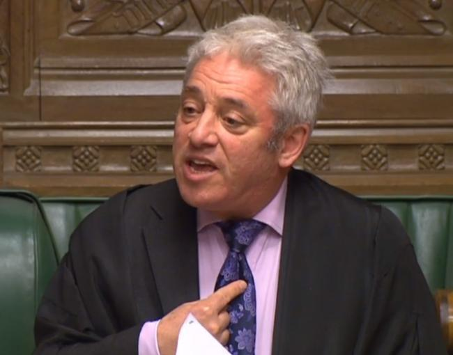 Bercow allows MPs to vote on second referendum as amendments chosen