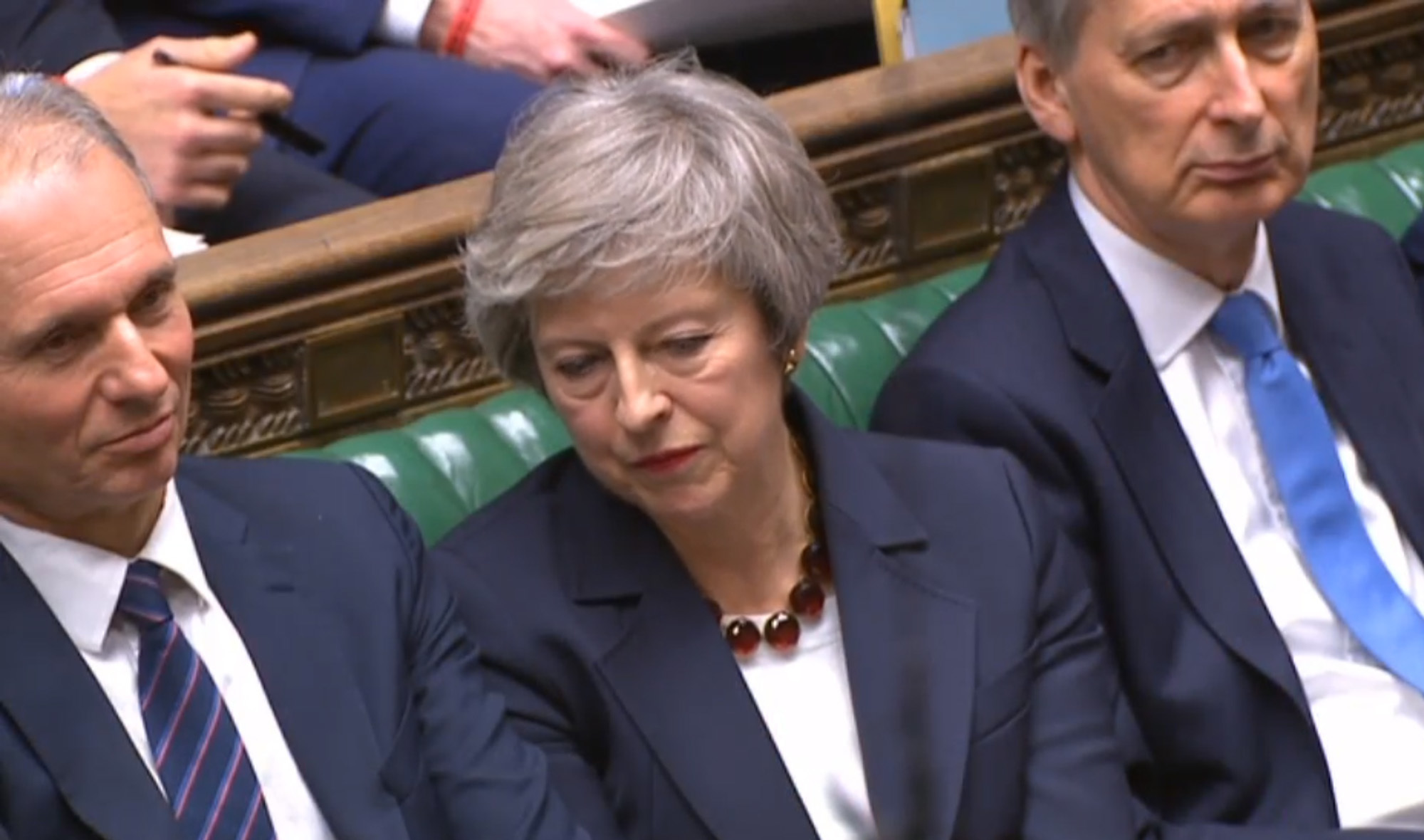 Prime Minister Theresa May listens during Prime Minister's Questions in the House of Commons, London. PRESS ASSOCIATION Photo. Picture date: Wednesday January 9, 2019. See PA story POLITICS PMQs May. Photo credit should read: House of Commons/PA Wire.