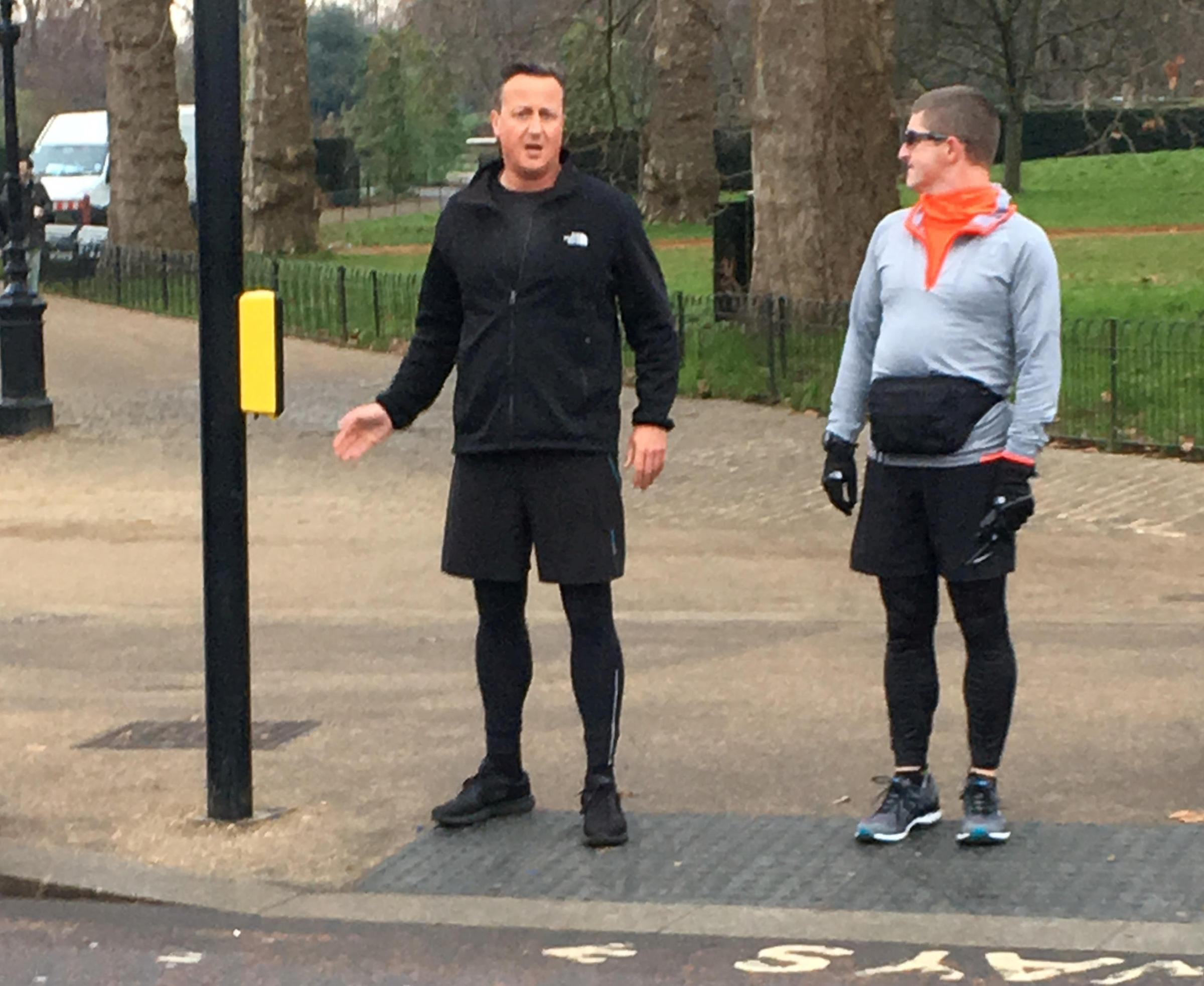 David Cameron spotted out on a jog in London (Photo: SWNS)