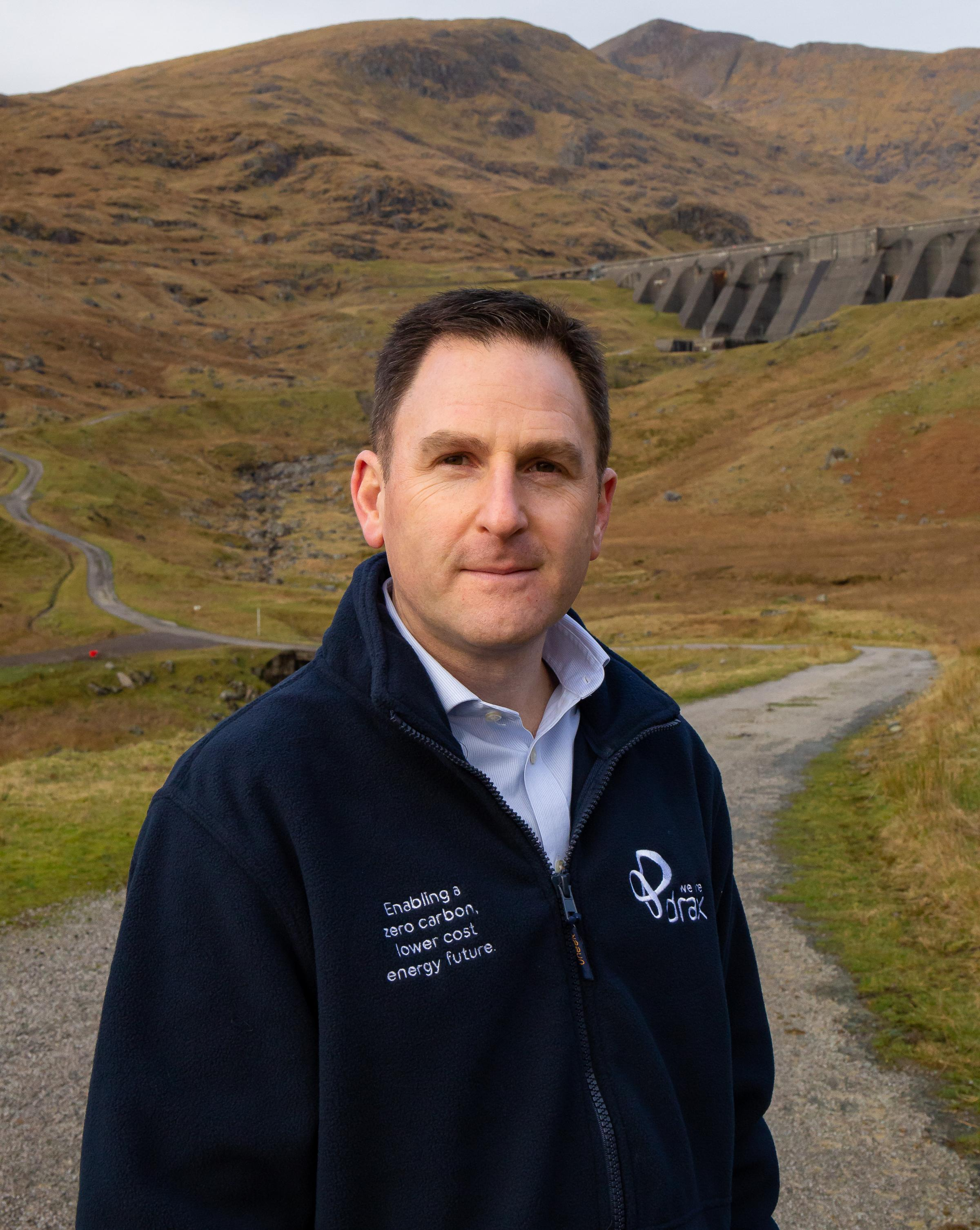 Andy Koss by the Cruachan Dam