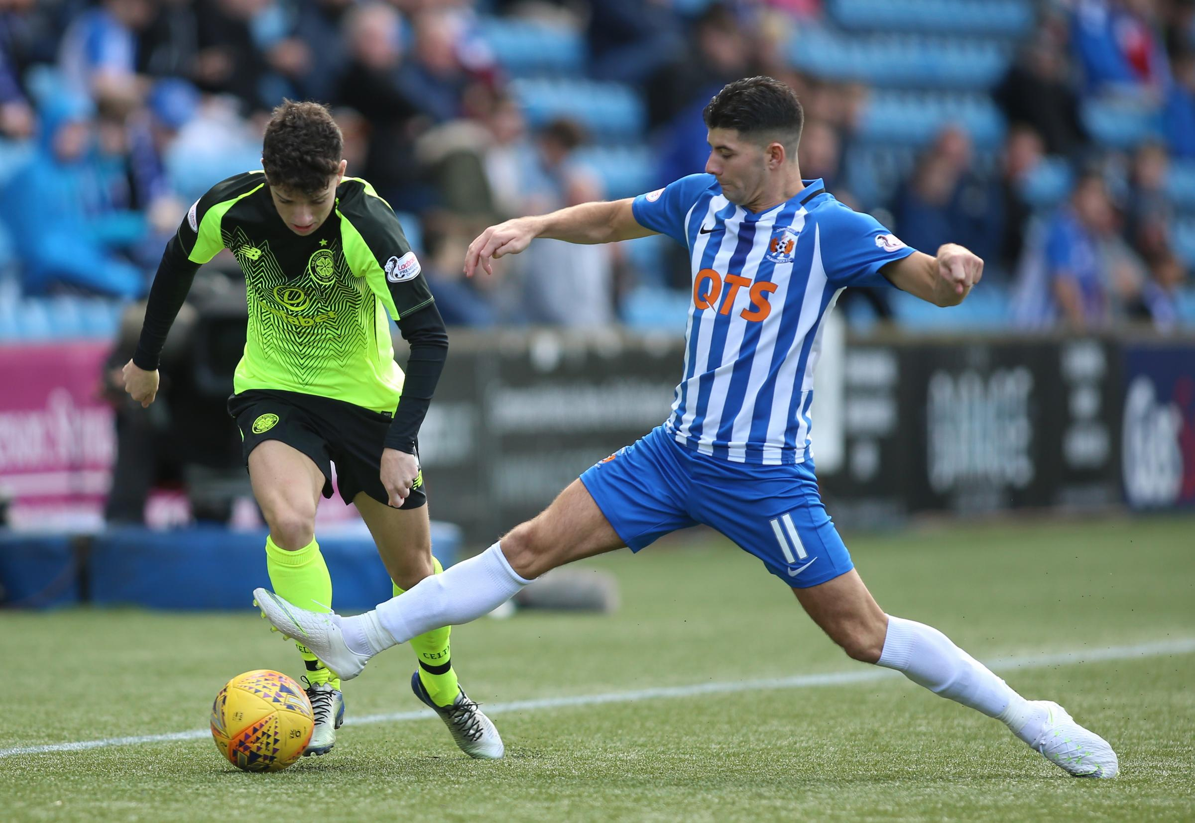 Kilmarnock winger Jordan Jones has been criticised by some of the club's fans for expressing his delight at signing a pre-contract agreement with Rangers PHOTO: GETTY