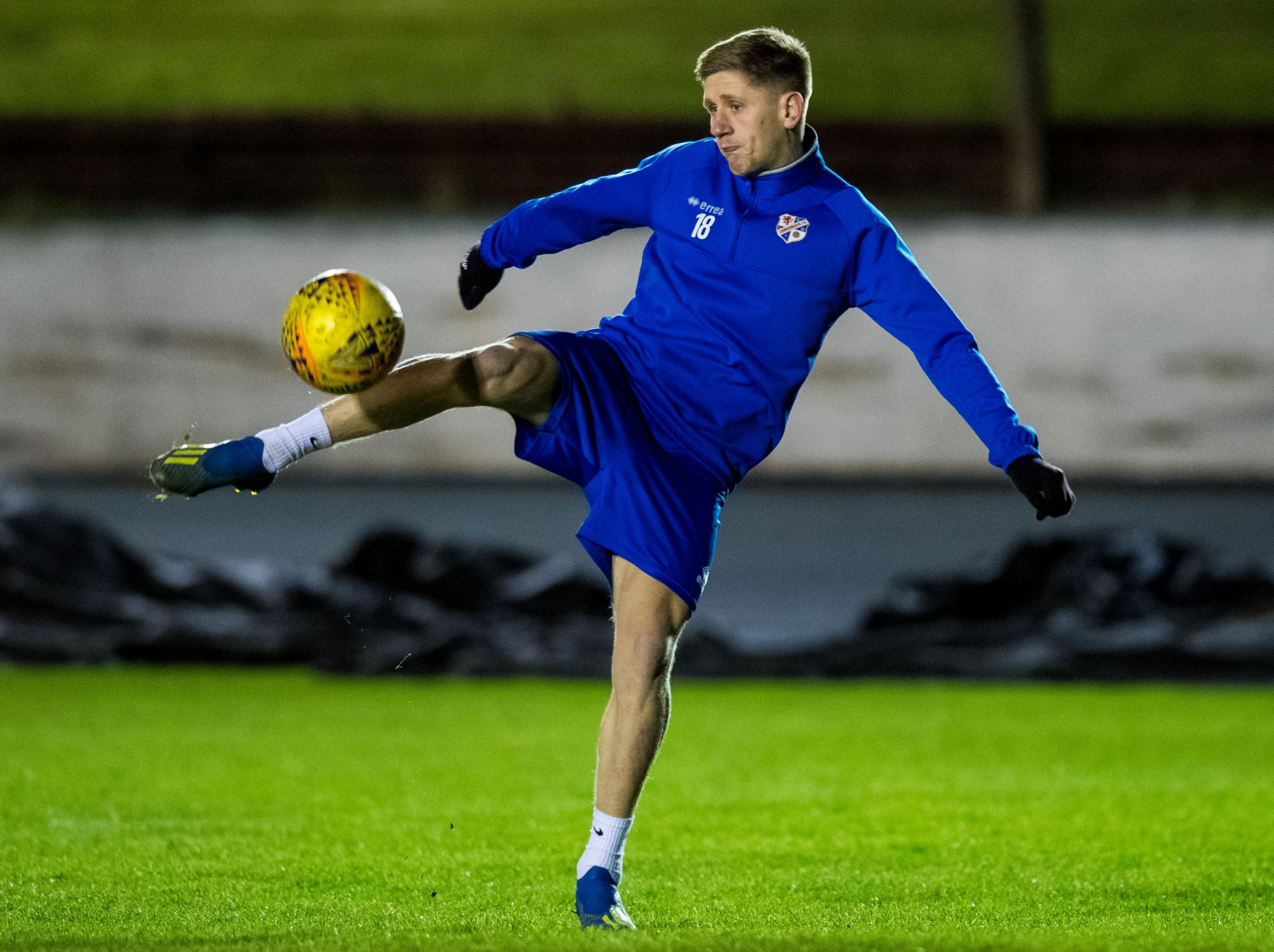Cowdenbeath's Robbie Buchanan is determined to enjoy tonight's game against Rangers