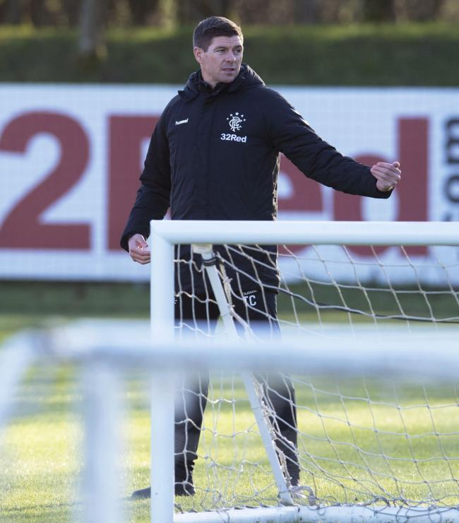 17/01/19.RANGERS TRAINING.THE HUMMEL TRAINING CENTRE.Rangers' manager, Steven Gerrard..