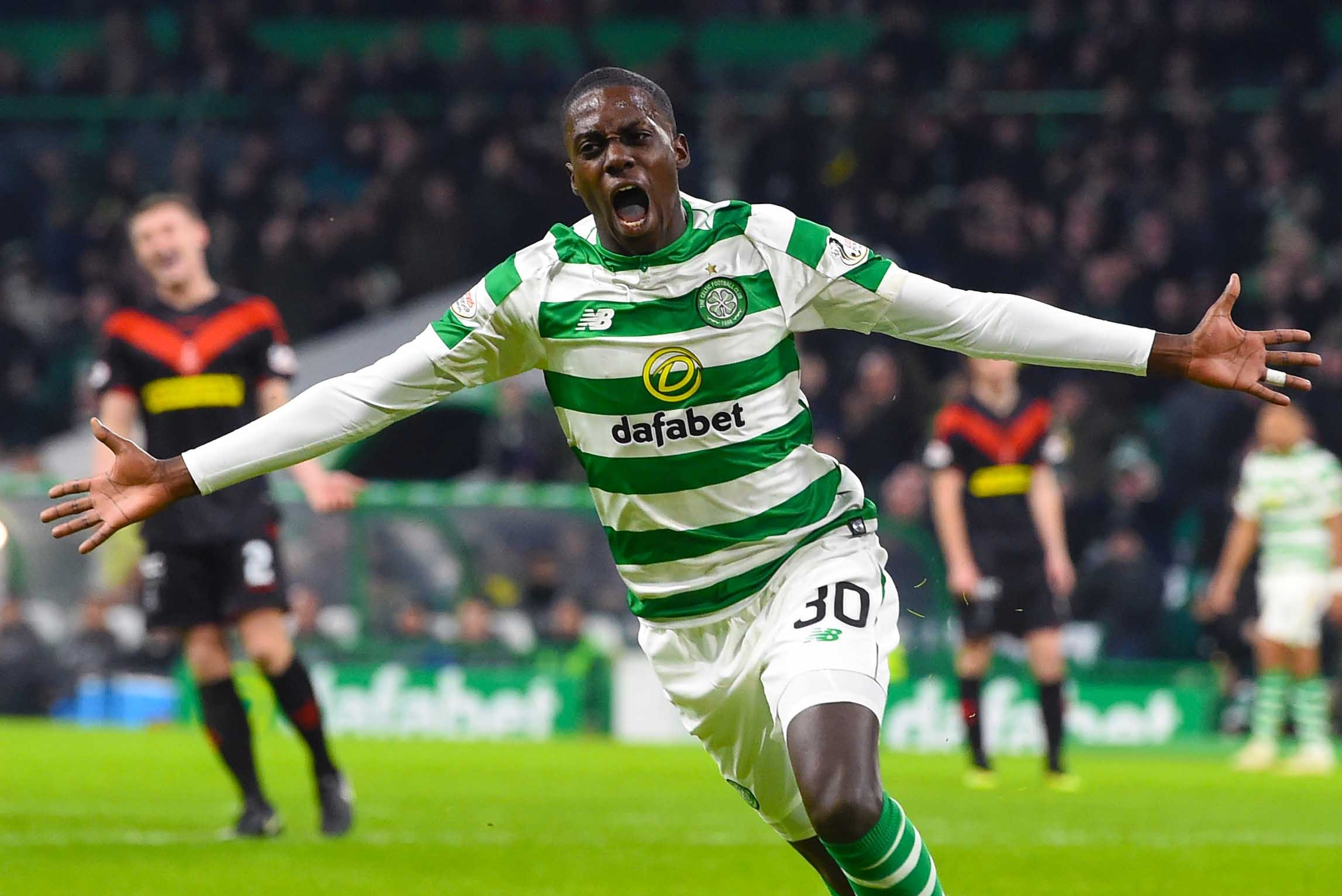 Celtic 3 Airdrie 0; Scott Sinclair and Timo Weah send Celtic through Scottish Cup tie