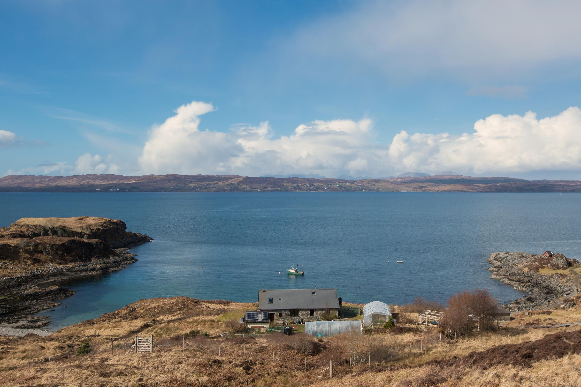 ACCESS: Despite being located in one of Scotland's most remote areas, Number 2 Doune has 4G connectivity and superfast broadband.