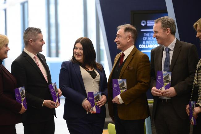 Derek Mackay, the Cabinet Secretary for Finance, launches the Glasgow City Innovation District with partners from Scottish Enterprise, Strathclyde University, Glasgow City Council, Entrepreneurial Scotland and the Glasgow Chamber of Commerce (Jamie Simpso