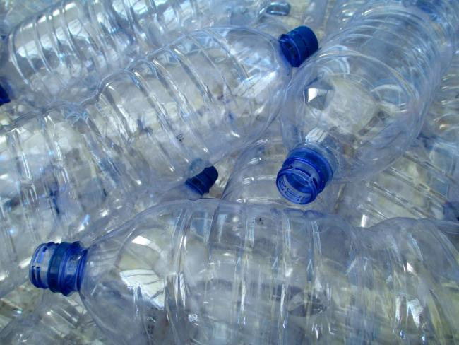 Close up of plastic bottles.