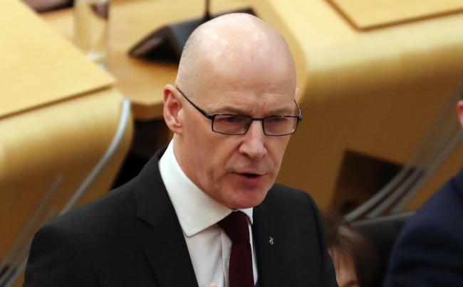 FMQs 1 SA :  Scotland Deputy First Minister John Swinney takes First Ministers Questions at the Scottish Parliament, Holyrood, Edinburgh.....Picture by Stewart Attwood......All images © Stewart Attwood Photography 2019.  All other rights are r