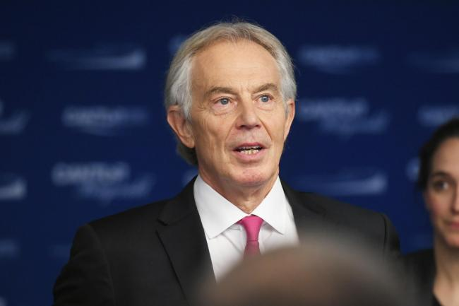 Former Prime Minister Tony Blair endorsed the widespread use of PFI, which led to many football pitches being privatised PHOTO: GETTY