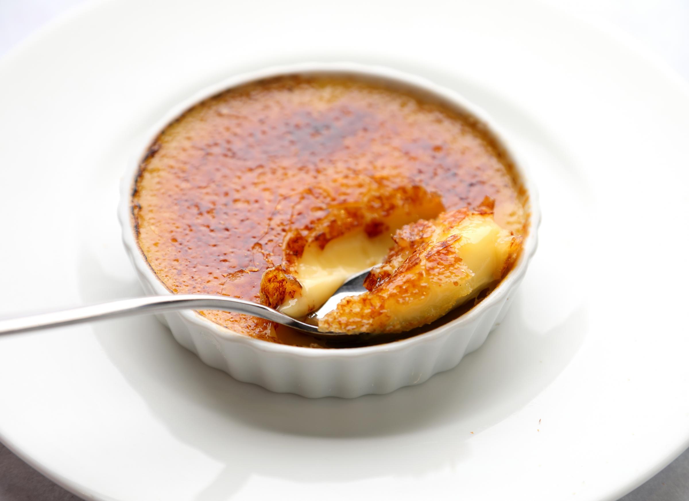 Chef Brian Maule's Vanilla flavoured Creme Brulee