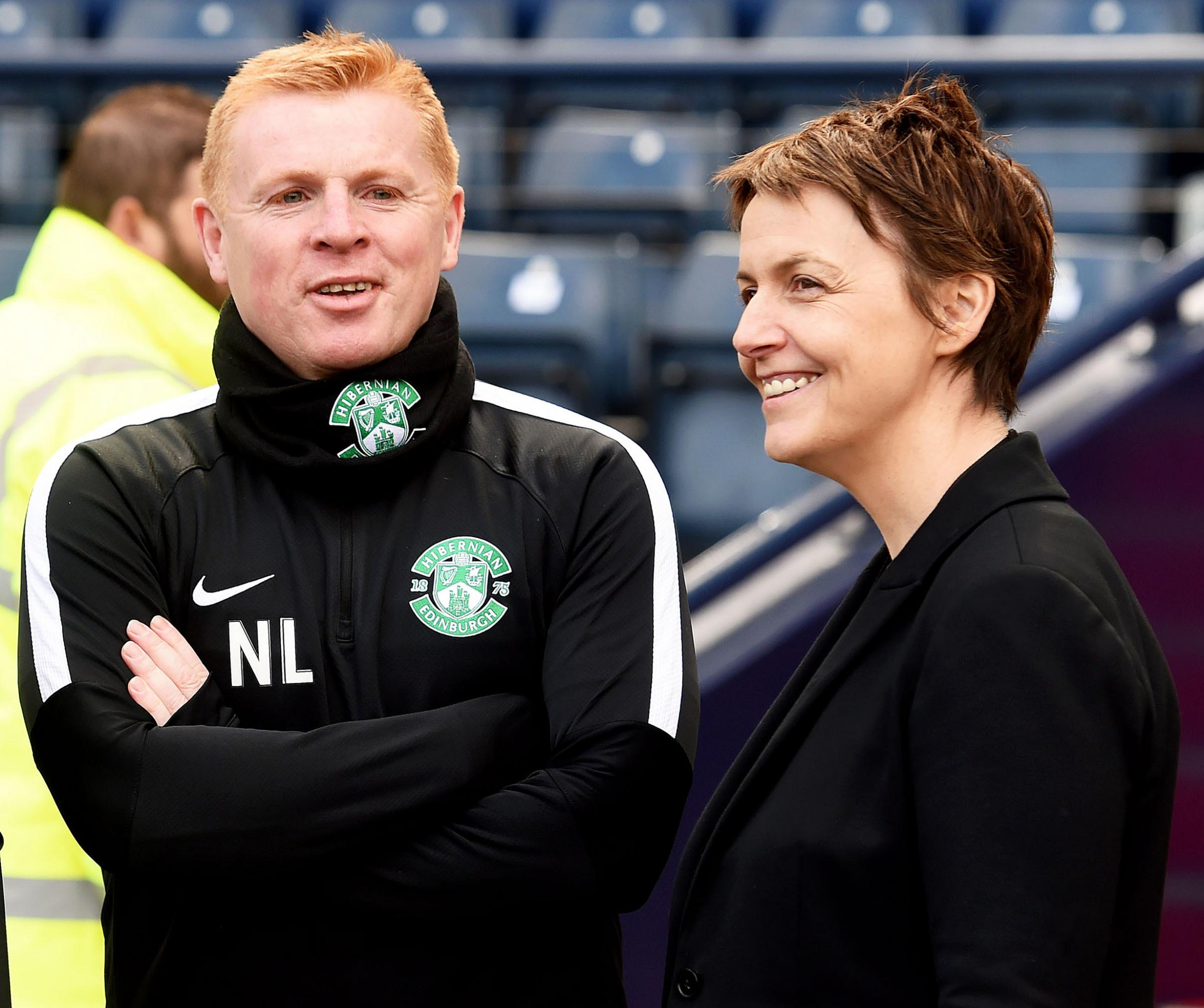 Hibs chief executive Leeann Dempster has declared there is no turmoil after Neil Lennon's departure