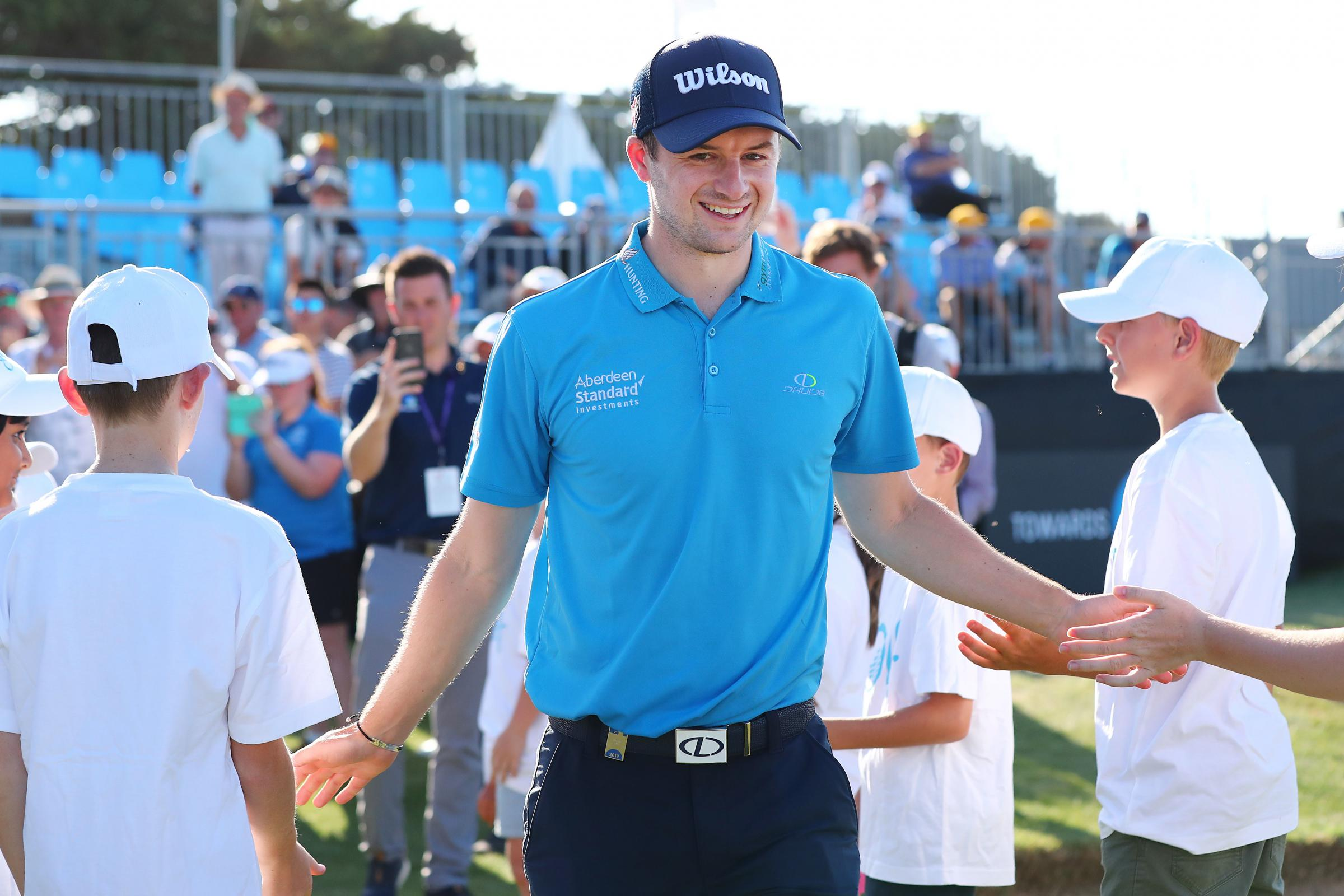 Law man: David Law celebrates his first win on the European Tour (Picture: Getty)