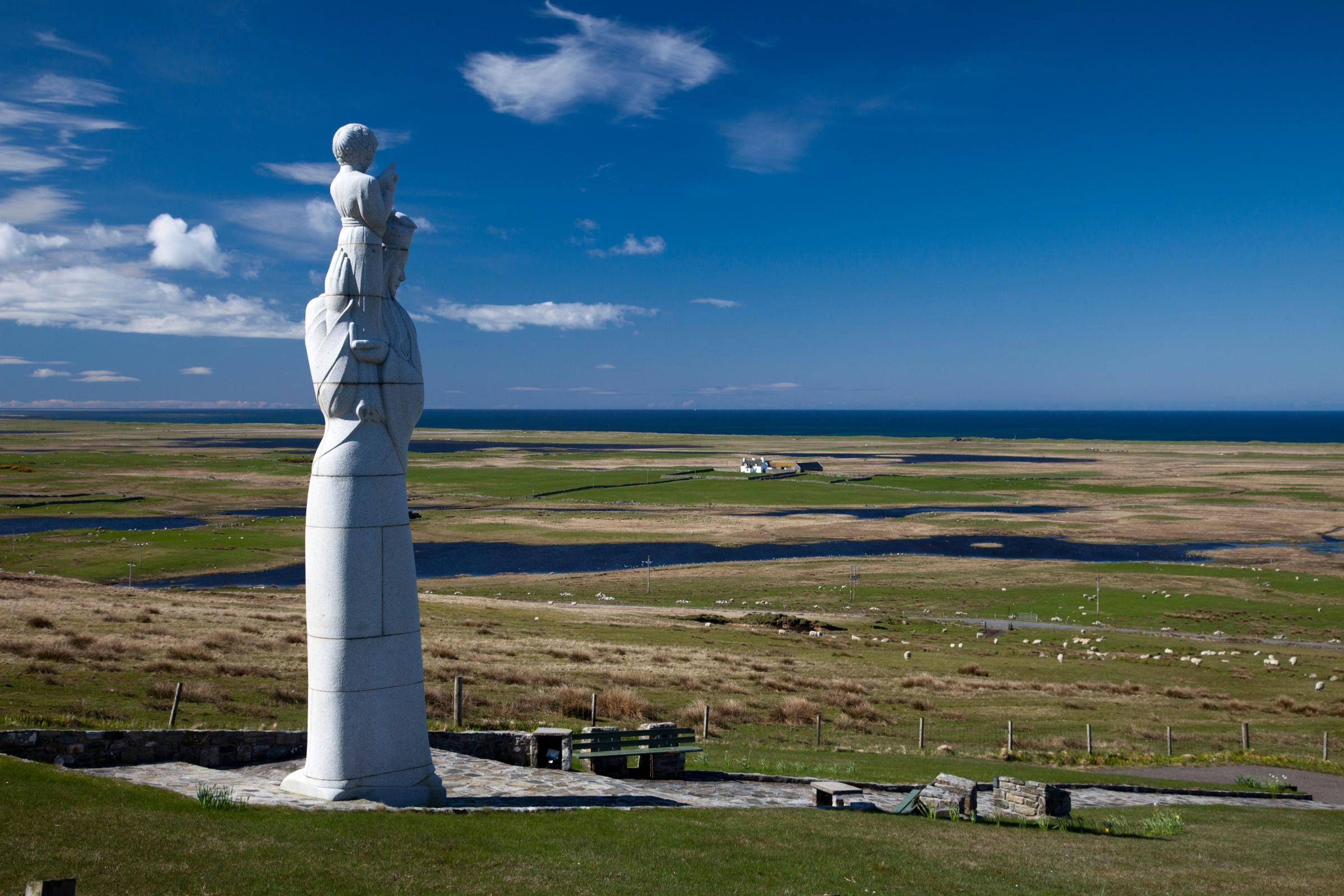 Our Lady of the Isles statue, South Uist.