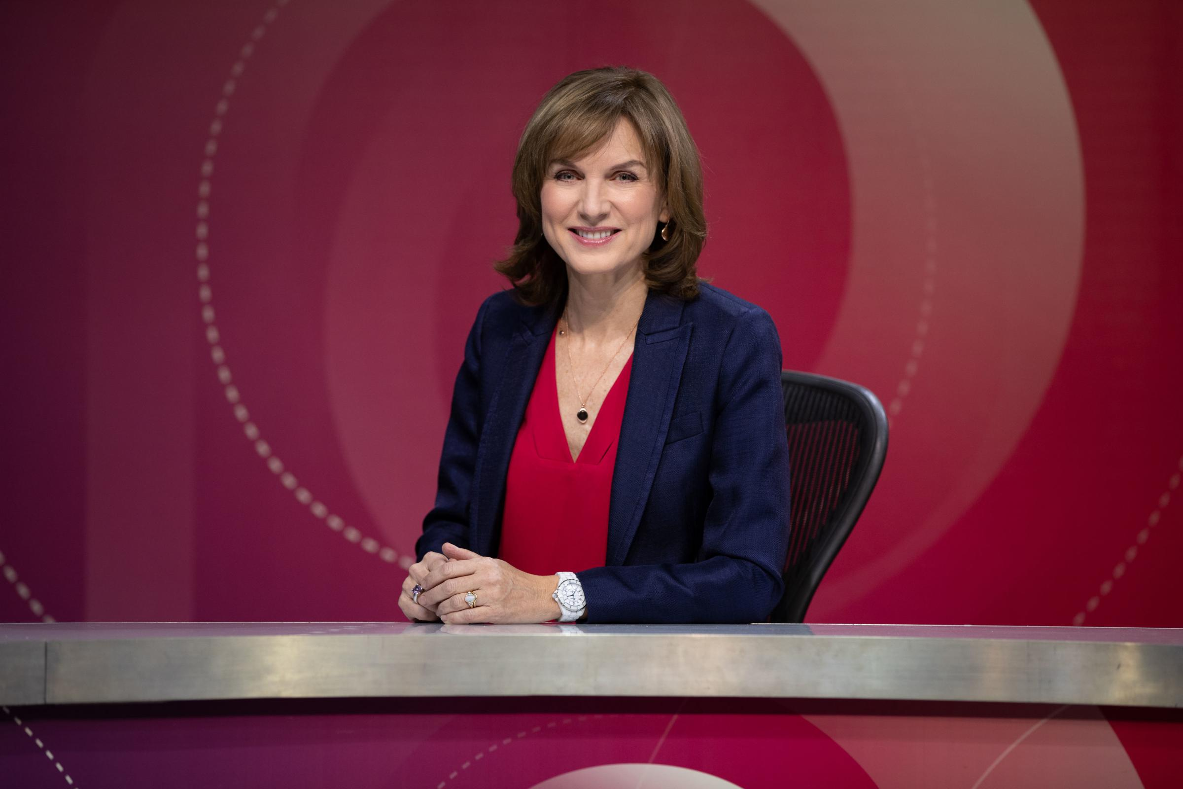 Fiona Bruce, who now chairs Question Time