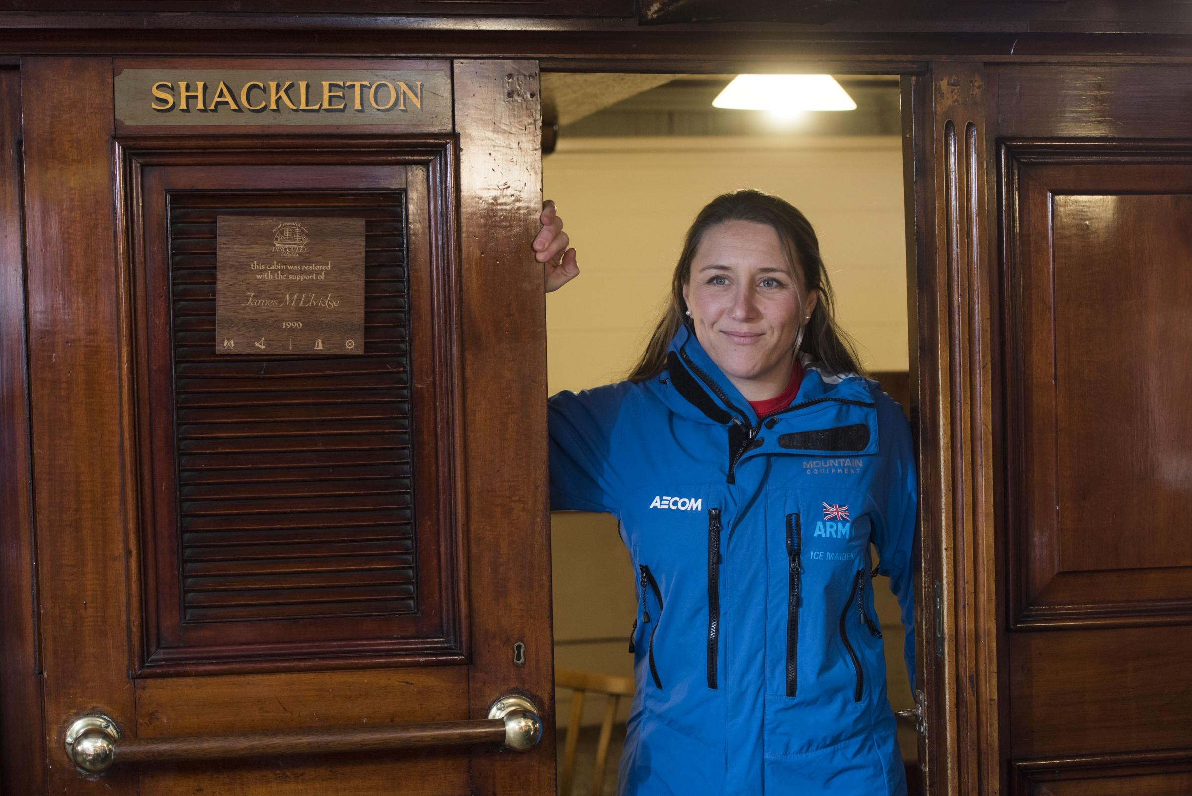 Major Sandy Hennis who was part of the Ice Maiden expedition, the first all-female team to ski coast-to-coast across Antarctica. Picture: Alan Richardson Dundee