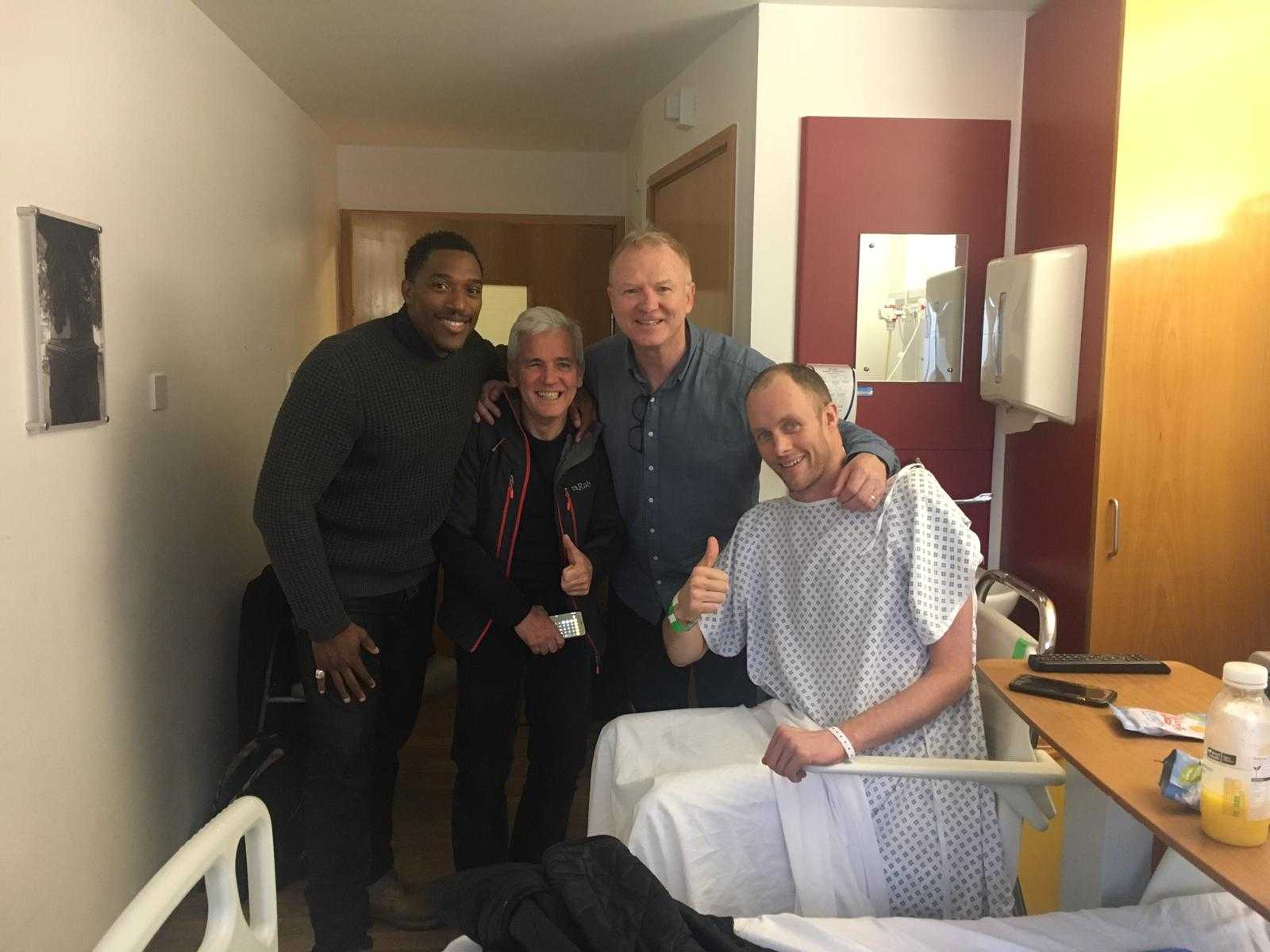 David Smith meets Alex McLeish whilst in rehab