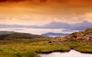 HeraldScotland: ON HIGH: The view to Skye from the high road to Applecross