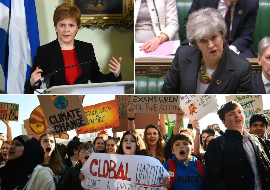 Nicola Sturgeon and Theresa May in war of words over school pupils on climate change strike