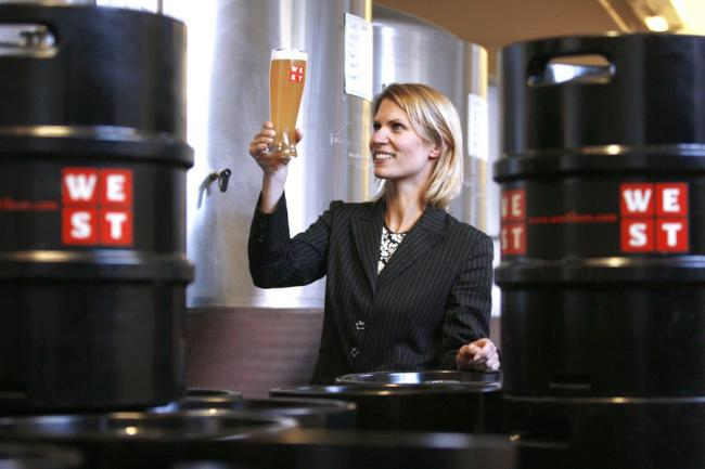 Petra Wetzel founded Glasgow Green brewery WEST 13 years ago.