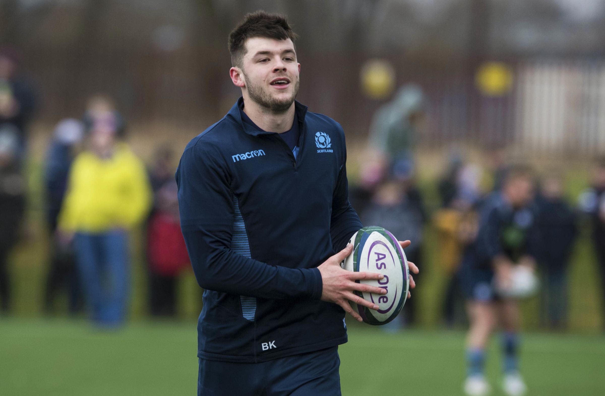 Scotland's Blair Kinghorn is looking forward to facing France in Paris