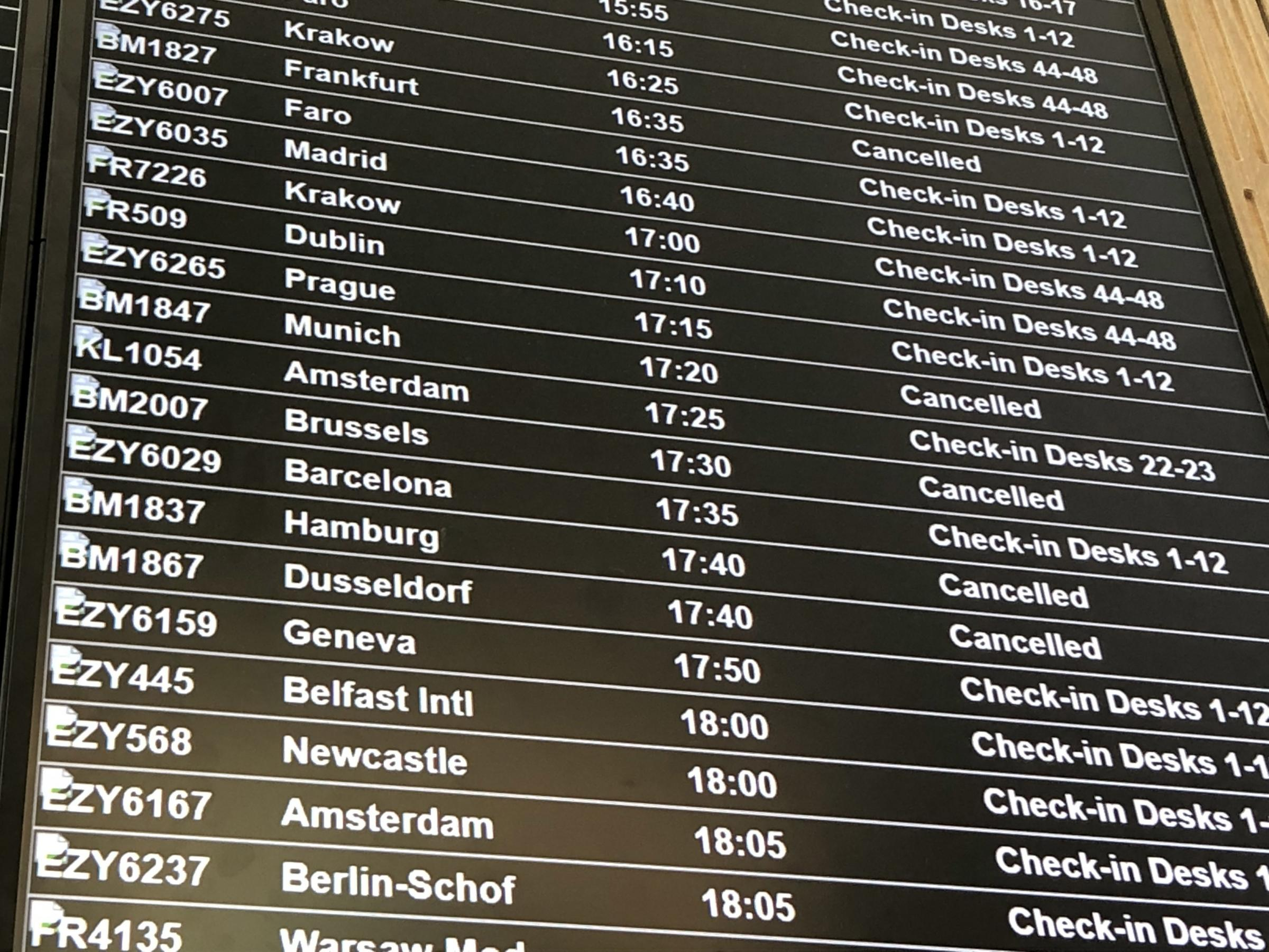 Flybmi flights have been cancelled following the collapse of the airline
