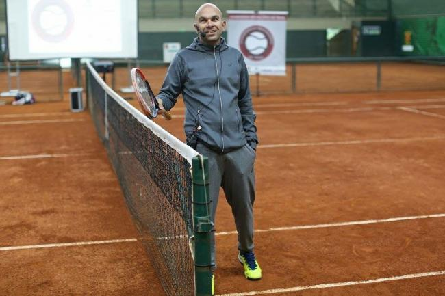 New Academy coach Leo Azevedo in action. Pic: Tennis Scotland
