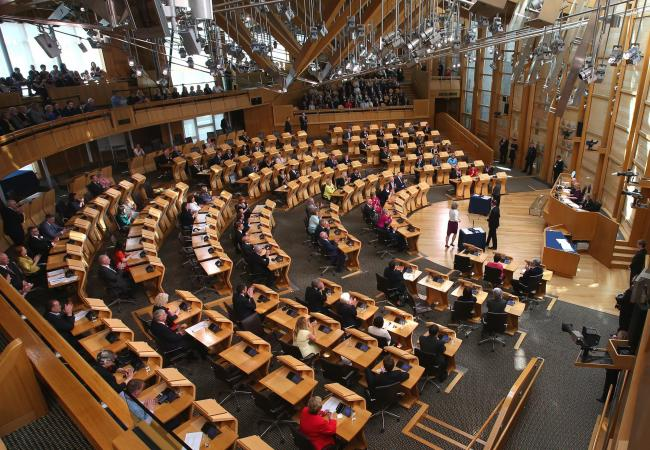 EDINBURGH, UK: The chamber as MSPs  are sworn in at the Scottish Parliament in Holyrood thursday..Pic Gordon Terris/The Herald.12/5/16.