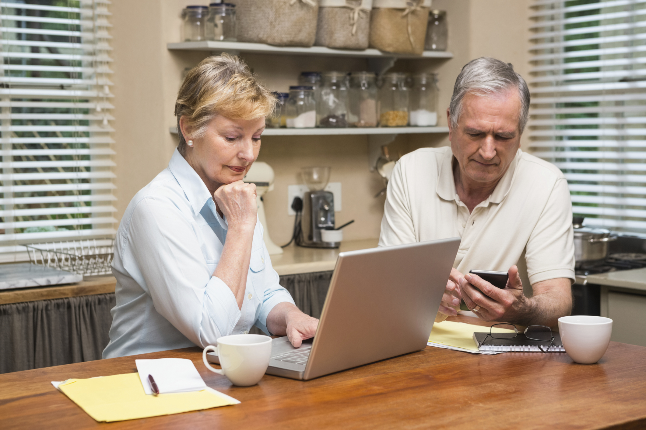 A Generic Photo of a couple sorting out their finances. See PA Feature FINANCE Pension Scams. Picture credit should read: PA Photo/thinkstockphotos. WARNING: This picture must only be used to accompany PA Feature FINANCE Pension Scams...