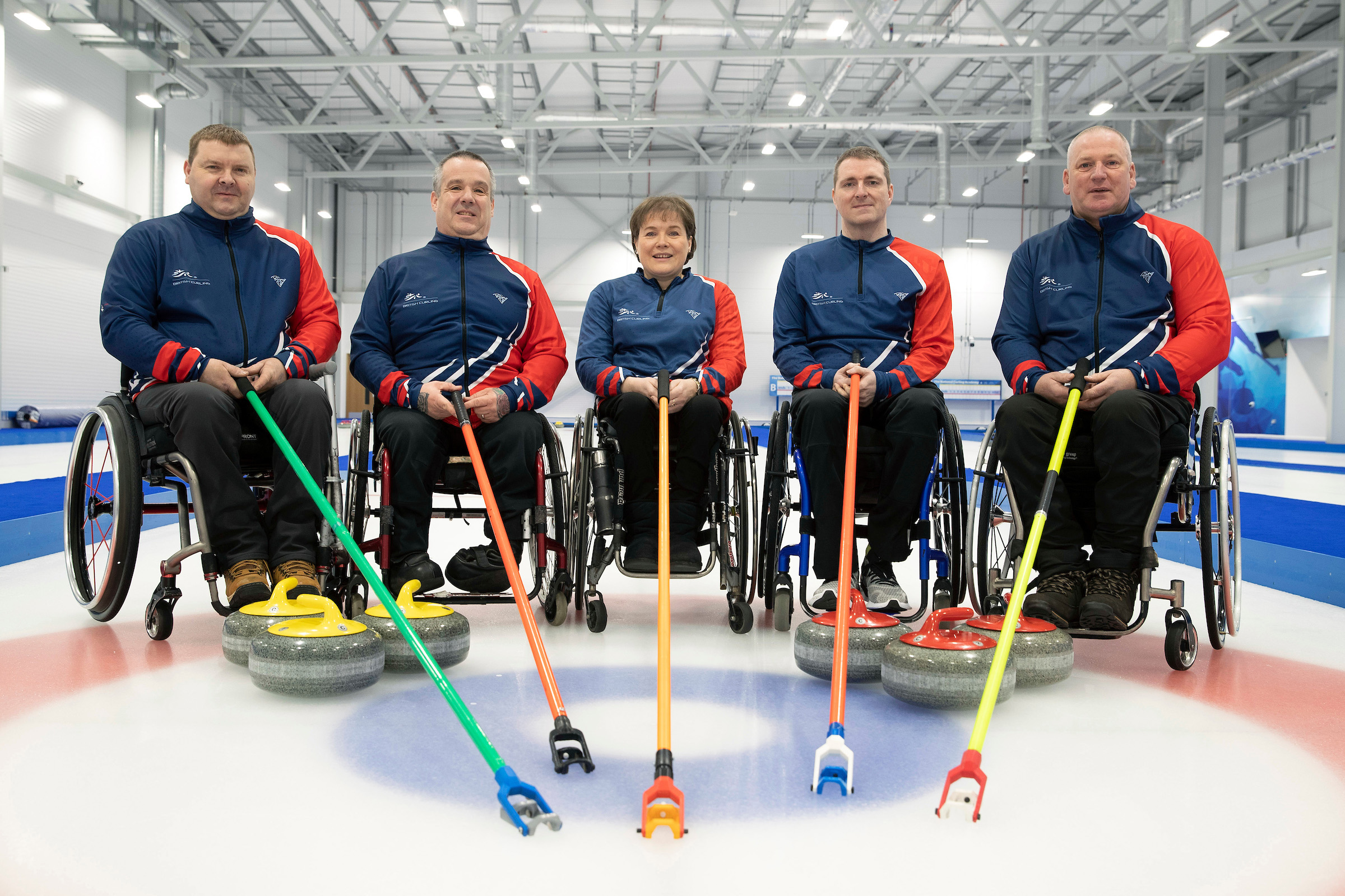 David Melrose, far left, pictured here with his team mates, took up curling five years ago.