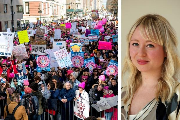A feminist march
