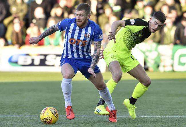 Celtic's Ryan Christie, seen here competing with Alan Power of Kilmarnock, will not play against this season