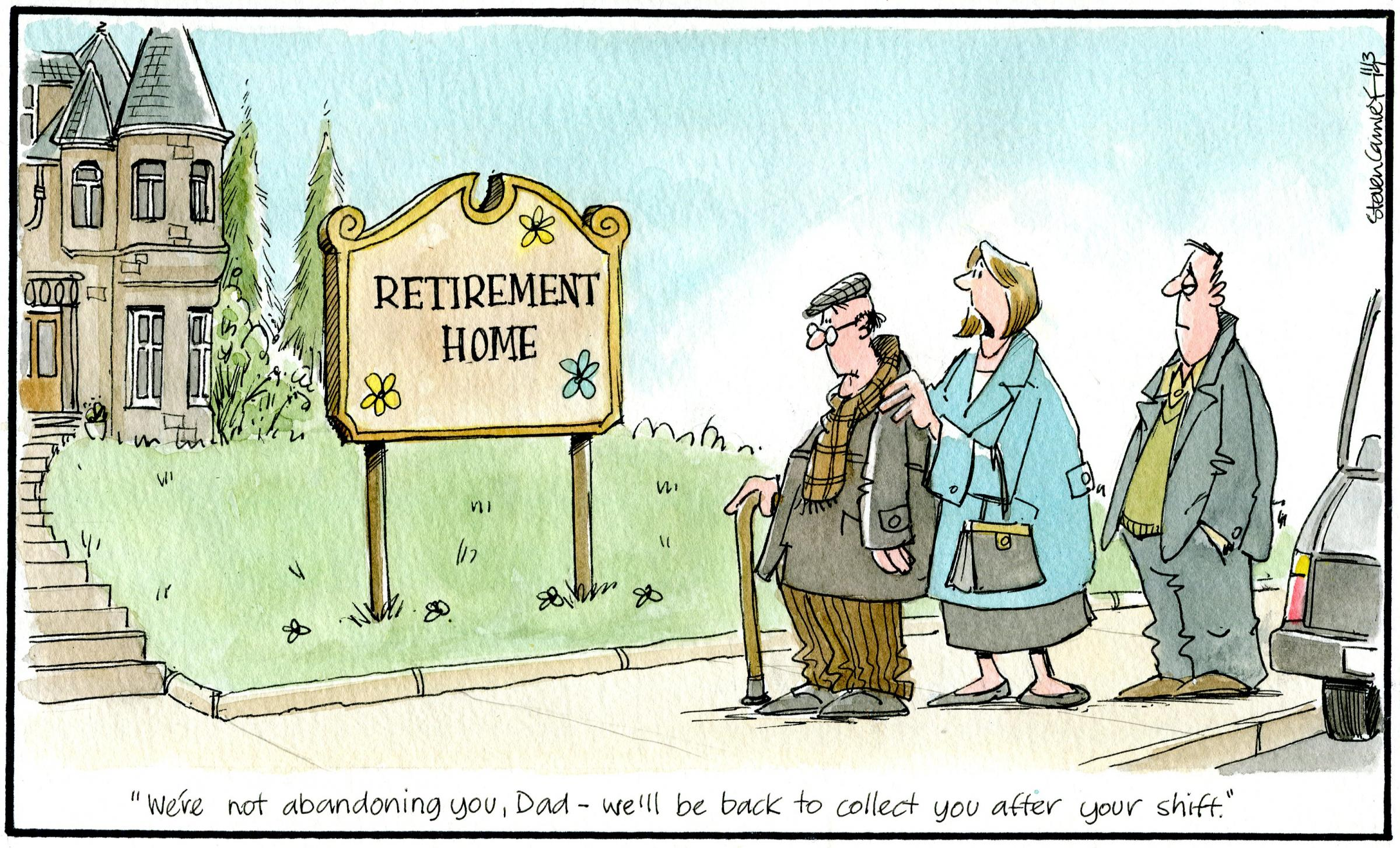 Camley's Cartoon on Monday, March 11: Retirement crisis of confidence