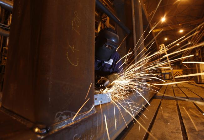 Engineering companies have seen overall orders, output and incoming export business fall. Picture: Colin Mearns.