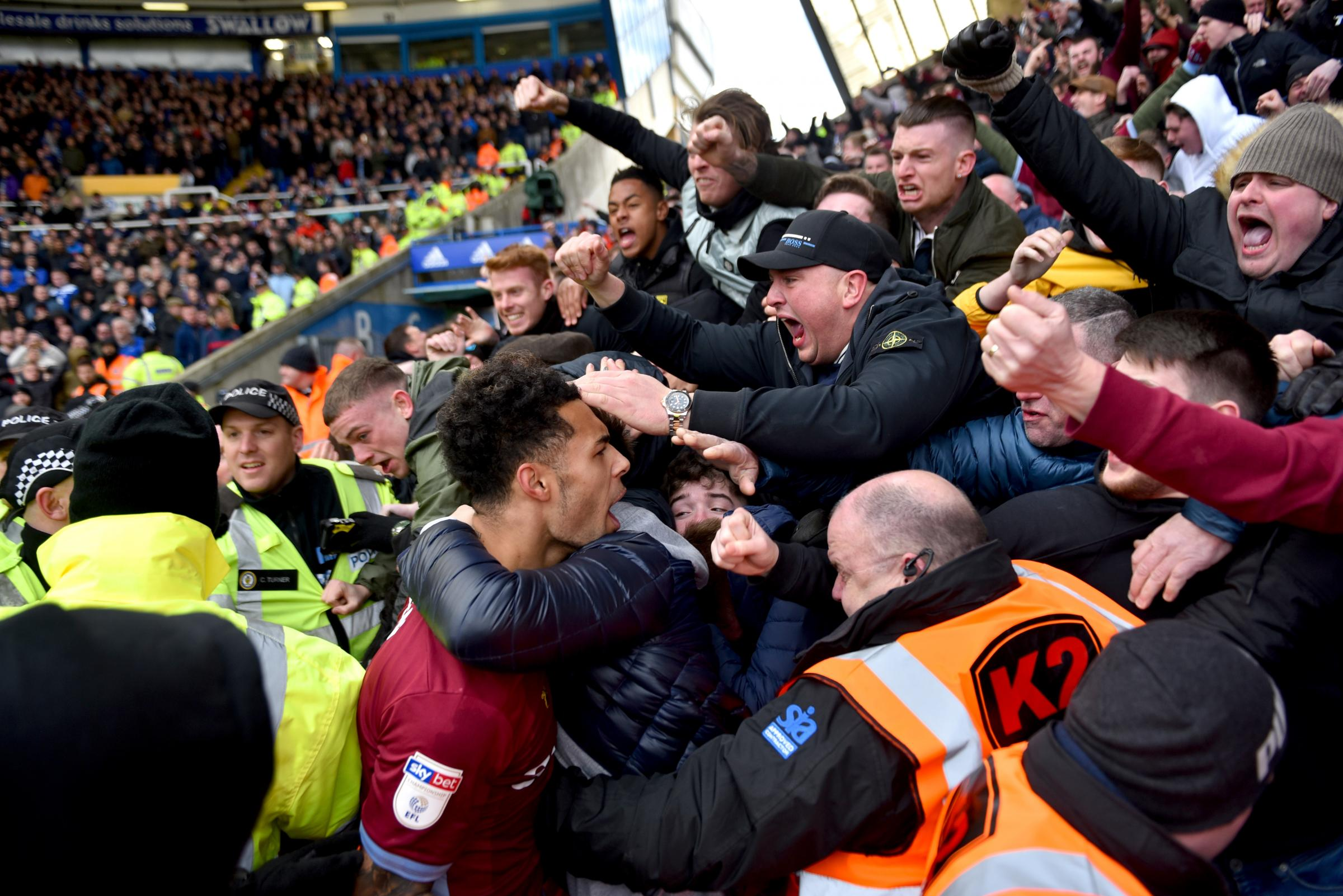 Aston Villa's celebrations against Birmingham on Sunday