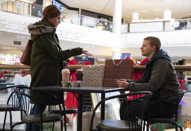 Julia Roberts as Holly Burns-Beeby and Lucas Hedges as Ben Burns-Beeby. PA Photo/STX International/BBP West BIB, LLC/Mark Schafer.