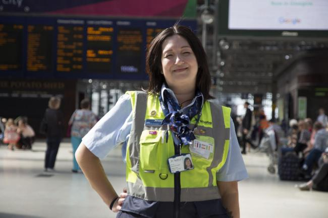 Programme Name: Inside Central Station - TX: 10/03/2019 - Episode: Inside Central Station 2 (No. n/a) - Picture Shows: Station worker Josie Looi is one of the staff who reveals what life is like at Scotland's busiest transport hub in  Inside Central S