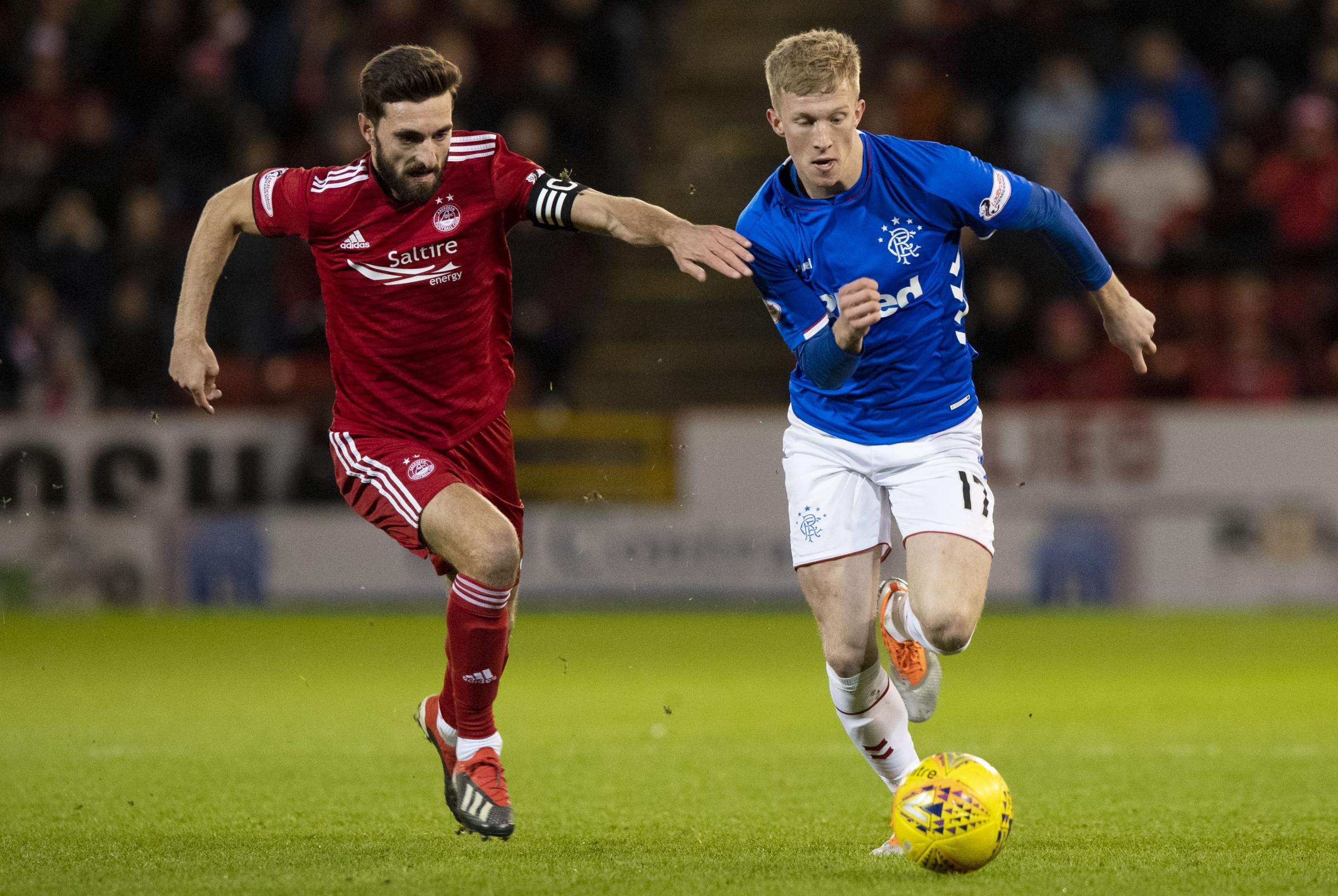 Ross McCrorie has struggled for significant gametime at Rangers this season PHOTO: SNS