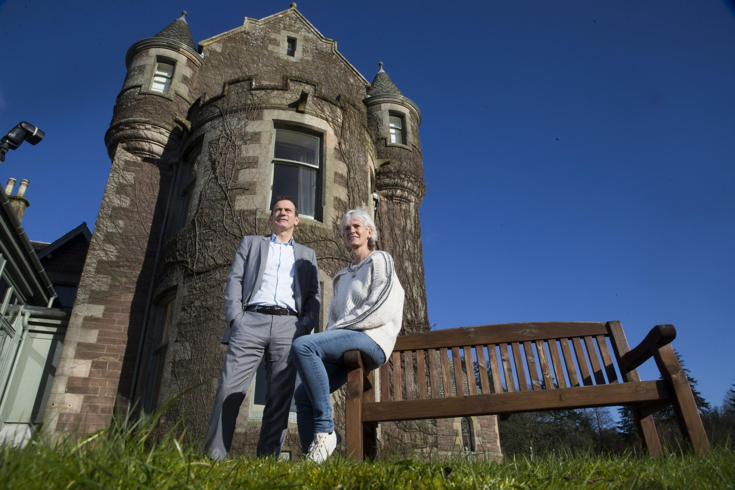 Judy Murray and Blane Dodds at Cromlix Hotel. Picture: Jeff Holmes
