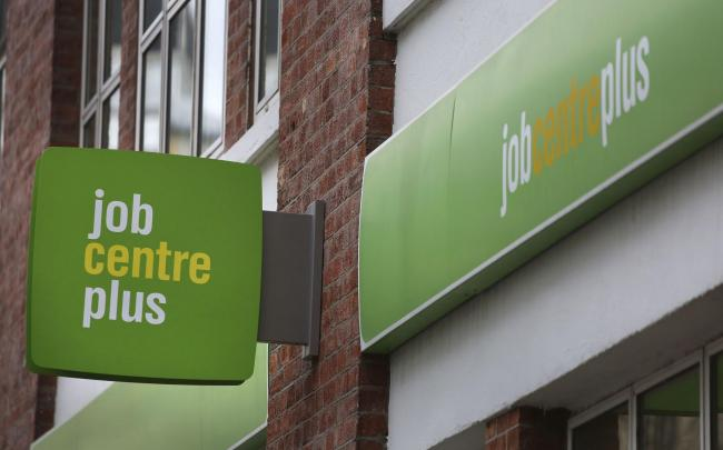 File photo dated of 17/02/18 of a Job Centre Plus sign. The number of people in work has continued to rise while average earnings have grown slightly faster than inflation, official figures show.  PRESS ASSOCIATION Photo. Issue date: Tuesday September 11,