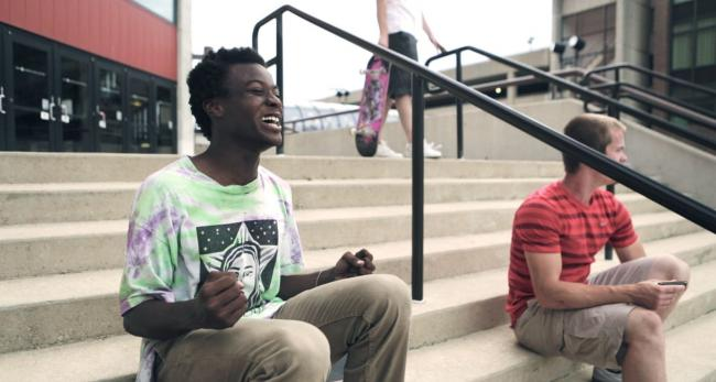 Kiere Johnson in the skateboarding and coming of age documentary, Minding the Gap