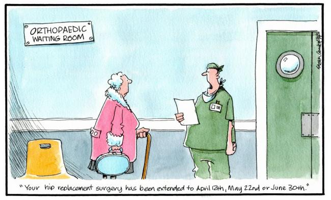 Camley's Cartoon on Tuesday, March 26: Hip replacement