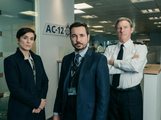 Line of Duty returns for season five tomorrow. It stars Vicky McClure as Detective Sergeant Kate Fleming, Adrian Dunbar as Superintendent Ted Hastings, and Martin Compston as Detective Sergeant Steve Arnott.
