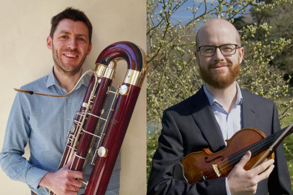 RSNO's new musicians: Paolo Dutto joins as Principal Contrabassoon and Robin Wilson as Second Violin
